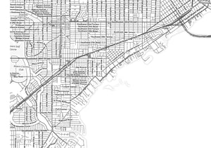 Miami City Map Print - Salt&Printer