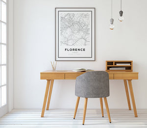 Florence City Map Print - Salt&Printer