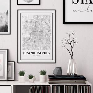 Grand Rapids City Map Print - Salt&Printer