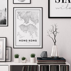 Hong Kong City Map Print - Salt&Printer