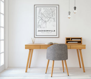 Jacksonville City Map Print - Salt&Printer