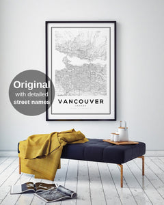 Vancouver City Map Print - Salt&Printer