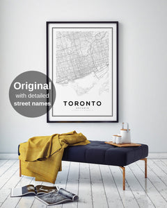Toronto City Map Print - Salt&Printer