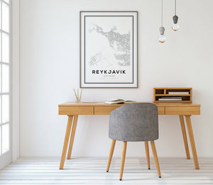 Reykjavik City Map Print - Salt&Printer