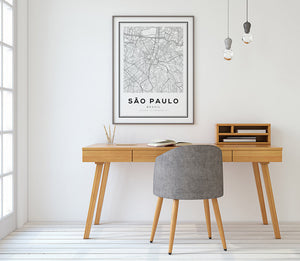 Sao Paulo City Map Print - Salt&Printer