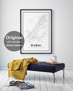 Dubai City Map Print - Salt&Printer