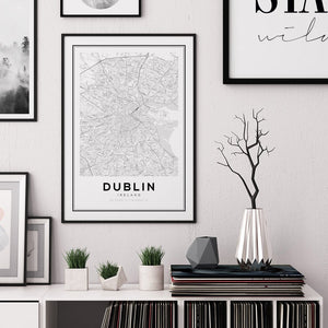 Dublin City Map Print - Salt&Printer