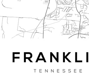 Franklin City Map Print - Salt&Printer