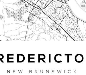 Fredericton City Map Print - Salt&Printer