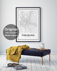 Freiburg City Map Print - Salt&Printer
