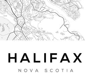 Halifax City Map Print - Salt&Printer