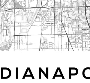 Indianapolis City Map Print - Salt&Printer