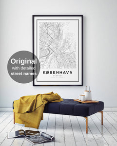 Copenhagen City Map Print - Salt&Printer