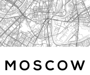 Moscow City Map Print - Salt&Printer