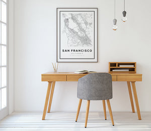SF The Bay Area City Map - Salt&Printer