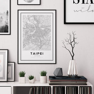 Taipei City Map Print - Salt&Printer