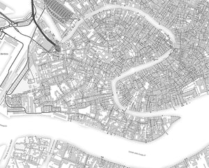 Venice City Map Print - Salt&Printer