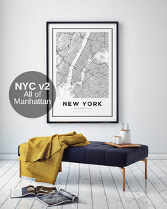 New York City Map II - Salt&Printer