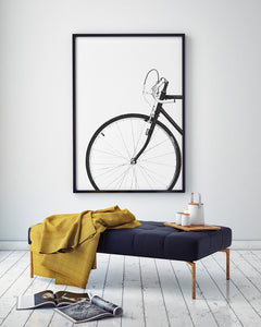 Bicycle Digital Wall Print - Salt&Printer