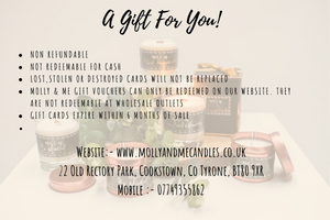 Molly & Me Candles Gift Certificate
