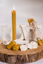 Load image into Gallery viewer, Hand Crafted Beeswax Taper Candles