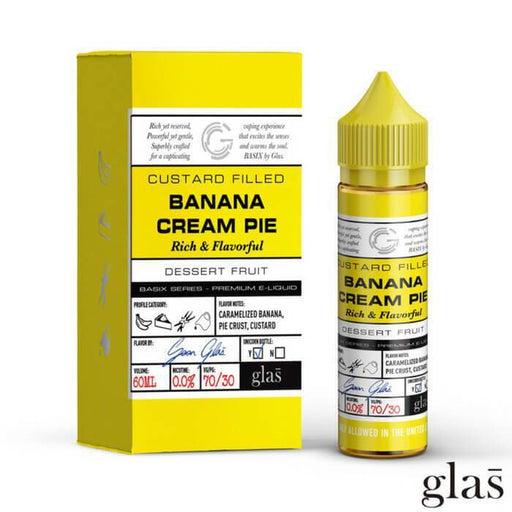 Glas - Banana Cream Pie E Juice Shortfill (50ML)