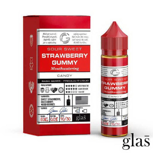 Glas - Strawberry Gummy E Juice Shortfill (50ML)