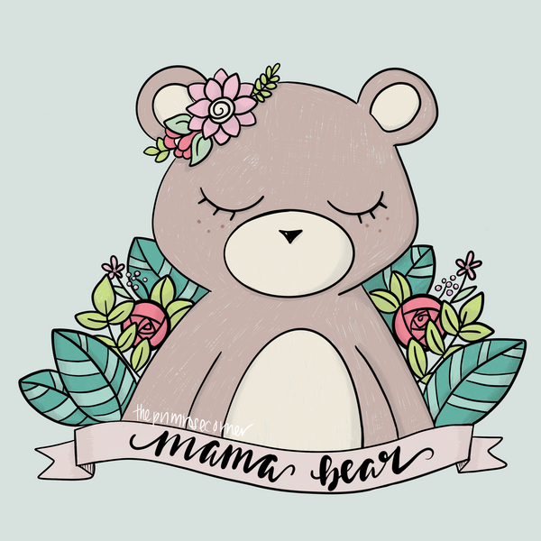 Mama Bear Illustration