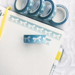 Dark Sage White Bow Washi Tape - Custom