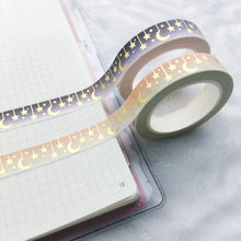 Load image into Gallery viewer, Gold Foil Celestial Washi Tape - Two Colors - Gold Foil - Original Design - Accessories Collection