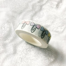 Load image into Gallery viewer, Pastel Bow Clip SHIMMER Washi