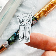 Load image into Gallery viewer, Kitty Life - Primrose Hand Drawn Sticker Sheet