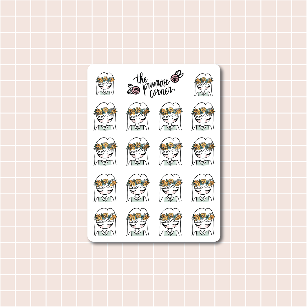 August Sticker Sheet - Primrose Collection