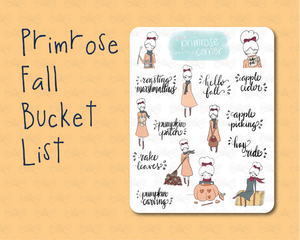 Primrose Fall Bucket List - Fall into Autumn - Primrose Collection