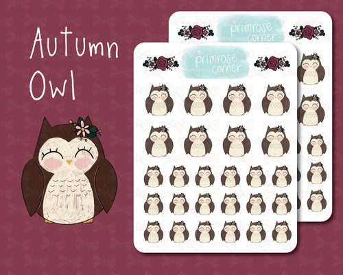 Autumn Owl - Fall into Autumn - Primrose Collection