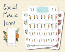 Load image into Gallery viewer, Social Media Stickers - Primrose Collection