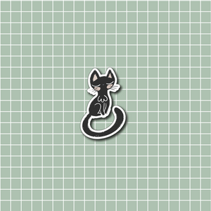 Black Cat Vinyl Sticker Decal - Halloween Collection - Primrose Collection