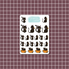 Load image into Gallery viewer, Black Cat Sticker Sheet - Halloween - Primrose Collection