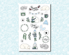 Load image into Gallery viewer, Stay Cozy Sticker Sheet - Premium weather resistant Matte Vinyl - Primrose Collection