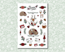Load image into Gallery viewer, Winter Woodland Sticker Sheet - Premium weather resistant Matte Vinyl - Primrose Collection