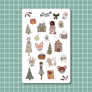 Cozy Holidays Sticker Sheet