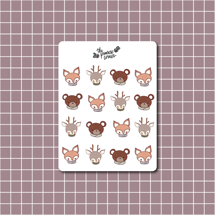 Cozy Animals Sticker Sheet
