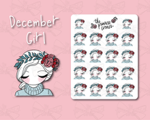 Load image into Gallery viewer, December Girl Sticker Sheet - Primrose Collection