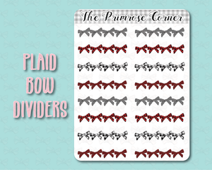 Plaid Bow Dividers