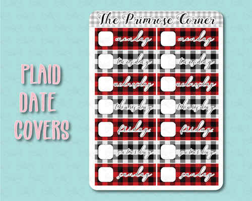 Plaid Date Covers