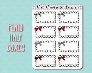Plaid Half Boxes