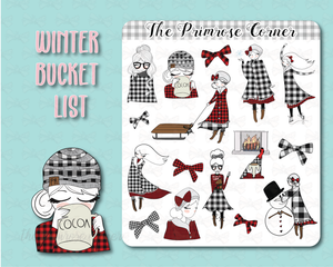 Buffalo Plaid Illustrations Sticker Sheet