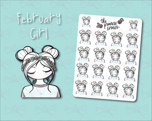 February Sticker Sheet - Primrose Collection