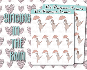 Singing in the Rain Illustration