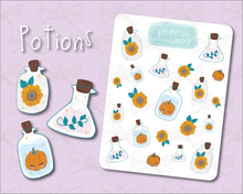 Load image into Gallery viewer, Potions Sticker Sheet - Halloween - Primrose Collection